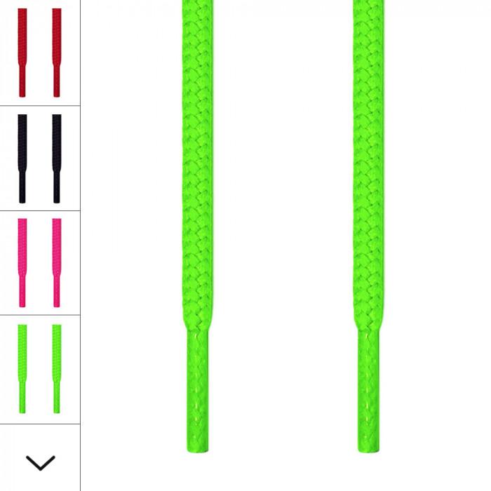 Runde, neongrønne skolisser