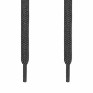 Elastiske Flate Mørkegråe Skolisser (uten knyting)
