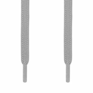 Elastiske Flate Lysegrå Skolisser (uten knyting)