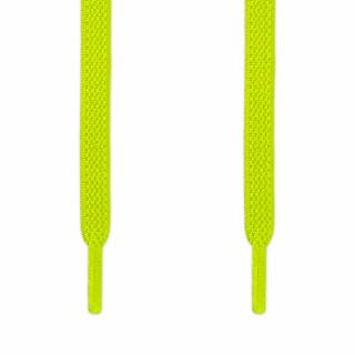 Elastiske Flate Neongule Skolisser (uten knyting)