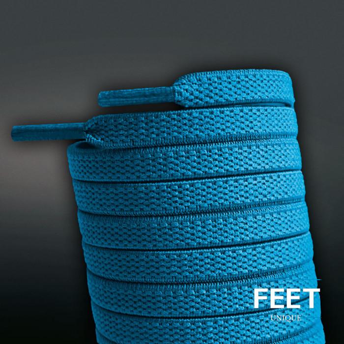 Elastiske Flate Turkis Blå Skolisser (uten knyting)