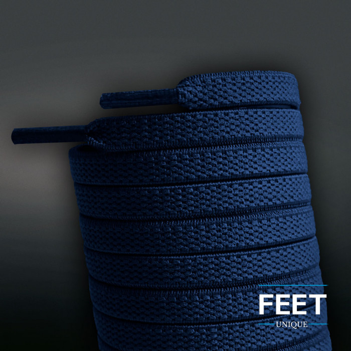 Elastiske Flate Marineblå Skolisser (uten knyting)