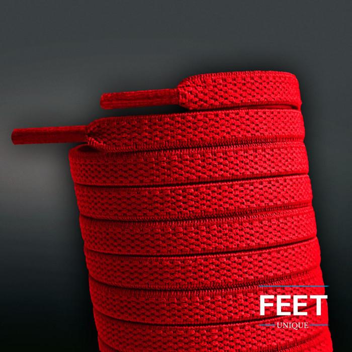 Elastiske Flate Røde Skolisser (uten knyting)