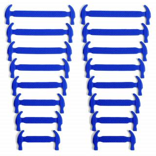 Blå elastiske silikon skolisser (No-tie)