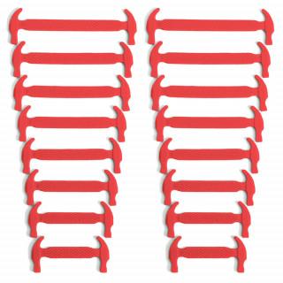 Røde elastiske silikon skolisser (No-tie)