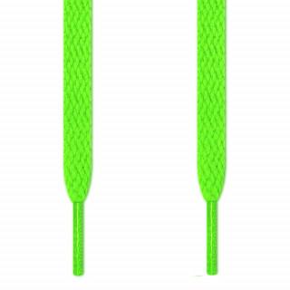 Flate, neongrønne skolisser