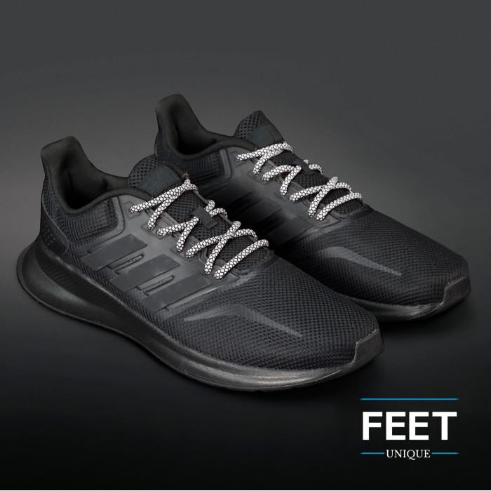 Adidas Yeezy - Skolisser Svart & Hvit