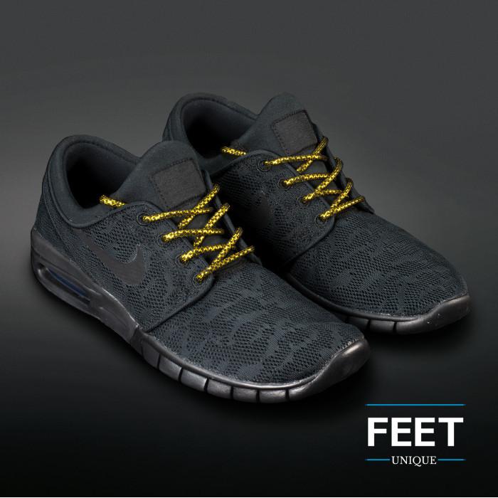 Adidas Yeezy - Skolisser Svart & Gull